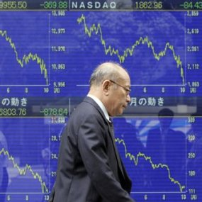 Stock falling deeply - photo by Reuters