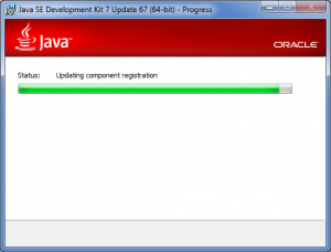 Java SDK installer wizard: installation process