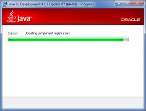 Java SDK installer wizard: installation process