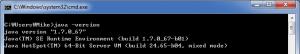 Java version for Java SDK