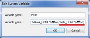 Maven binary directory addition into executable paths
